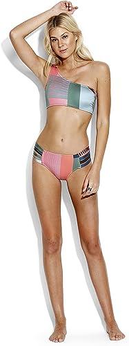 Seafolly Haut de Bikini One Shoulder, Imprimé MultiCouleure - Modern Art