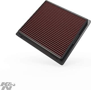 K&N engine air filter, washable and reusable:  2010-2019 Jeep/Dodge SUV V6/V8 (Grand Cherokee, Durango) 33-2457