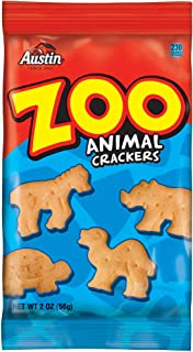 Austin, Zoo Animal Crackers, Bulk Size, 160 oz (Pack of 80, 2 oz Pouches)