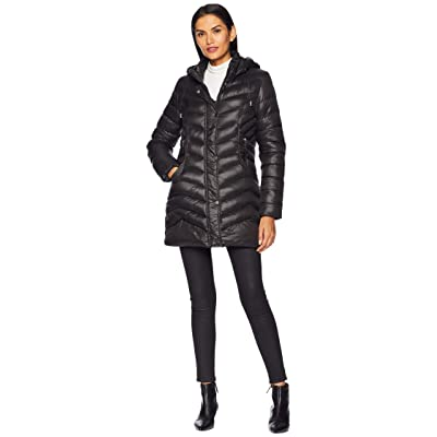 Tribal Softshell Puffer Jacket with Removable Hood (Black) Women