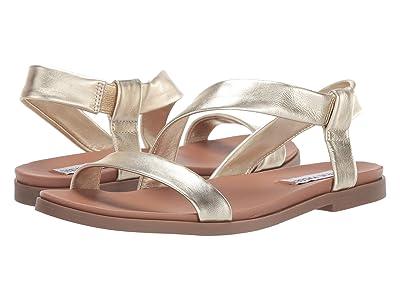 Steve Madden Dessie Flat Sandals (Gold Leather) Women