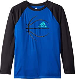 Raglan Sport Ball Tee (Big Kids)