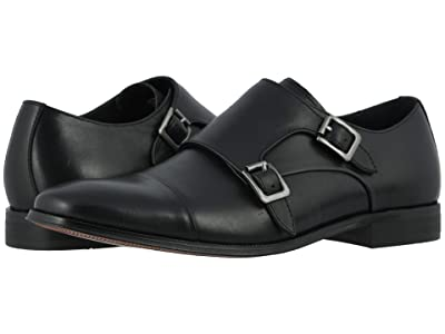 Florsheim Jetson Cap Toe Double Monk Strap (Black Smooth) Men