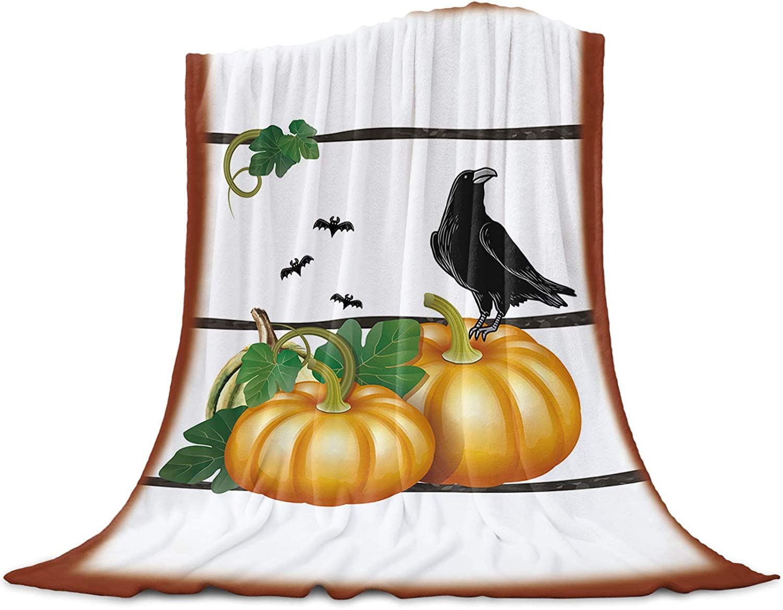 LEO BON Soft Warmer Throw Blankets Year-end gift Pump for Mail order All Season Halloween