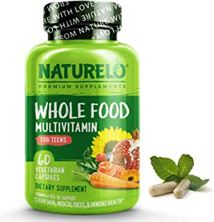 NATURELO Whole Food Multivitamin for Teens - Natural Vitamins & Minerals for Teenage Boys & Girls - Supplement for Active ...
