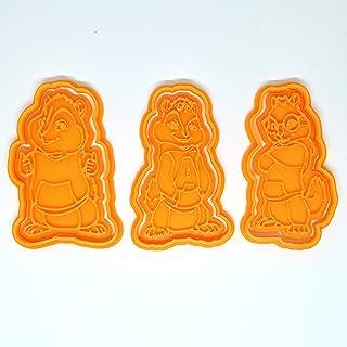 Set di 3 formine tagliabiscotti con Alvin ed i Chipmunks (Alvin, Simon e Theodore)