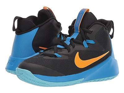 Nike Kids Future Court (Big Kid) (Black/Orange Peel/Photo Blue/Blue Gaze) Boys Shoes