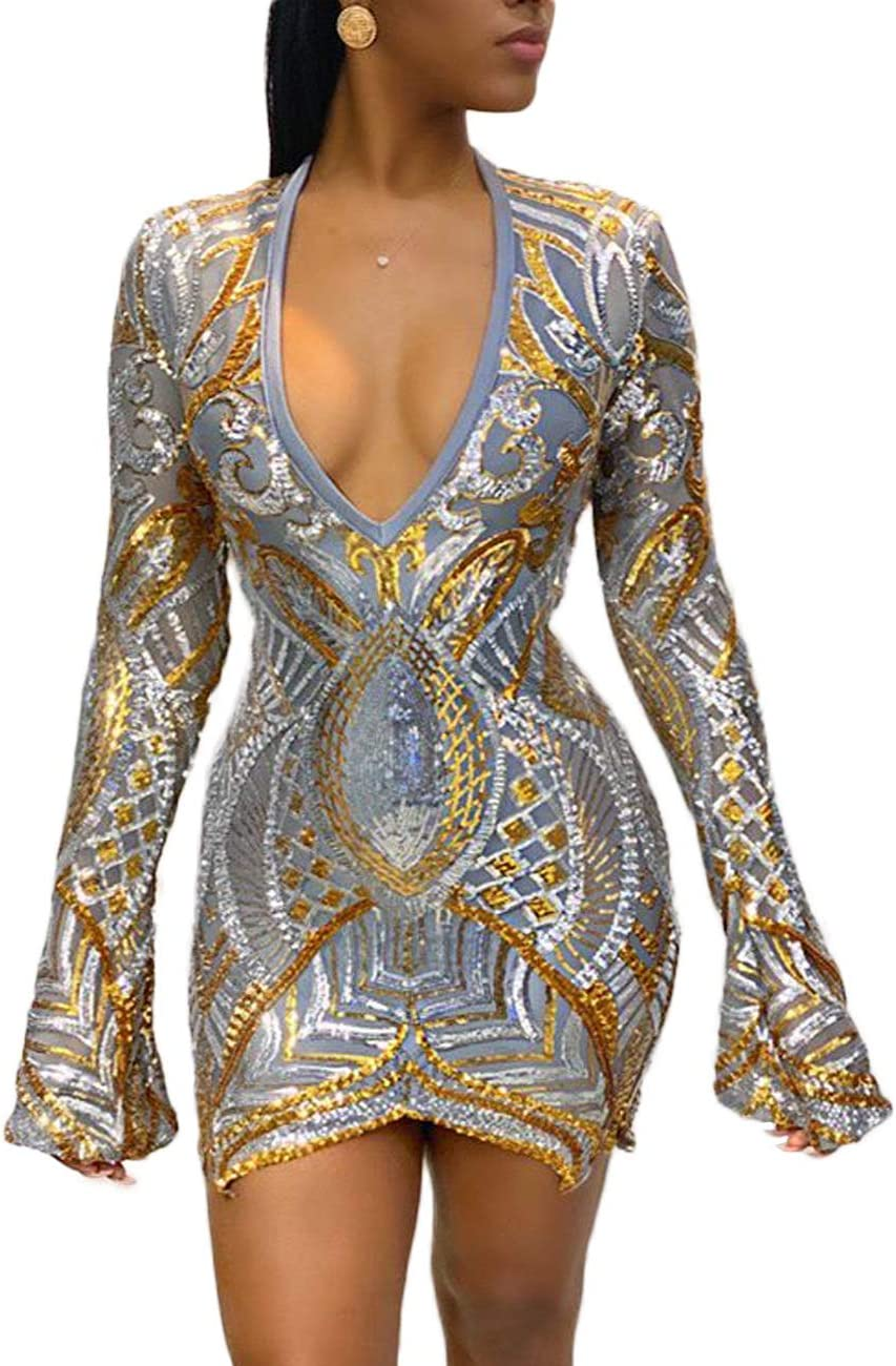 Snow scene Women's Sequined V-Neck : Skirt Max 75% OFF Color National uniform free shipping Golden Tight