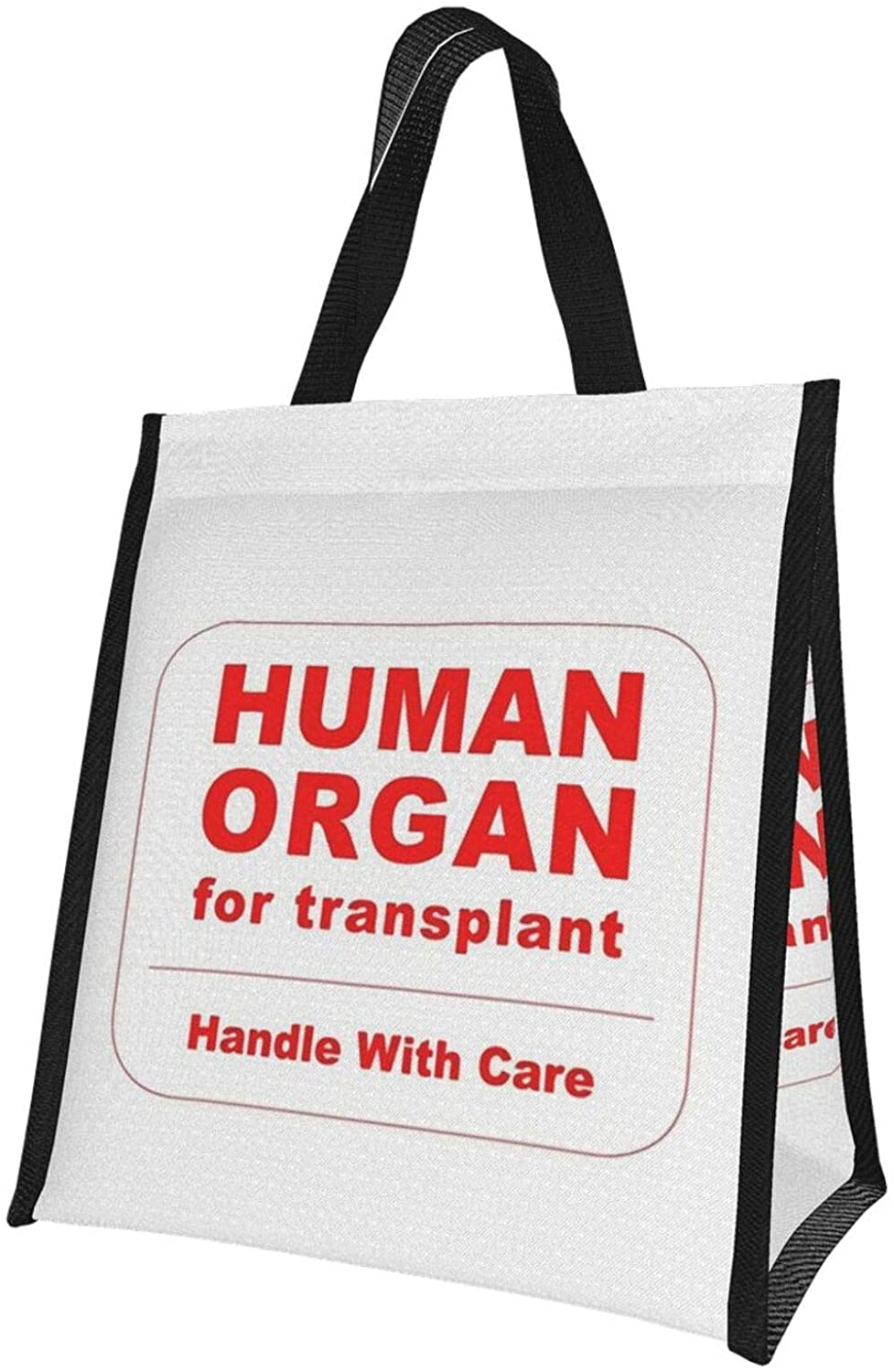 Reusable Lunch Bag,Human Organ for Transplant Lunch Bags Tote Bags for Women Lunch Box Insulated Lunch Container for Office Work School Picnic - 10 x 11 inch