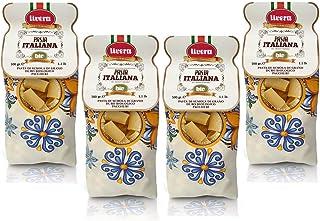 Livera Paccheri Bio 4 X 500 Gr, Pasta Cortas Gigante BIO de Sémola de Trigo Duro Bio 100% Made in Italy, Paccheri Elaborada en Bronce, Empaque de Pasta Seca de Alta Calidad, Cocina 12'