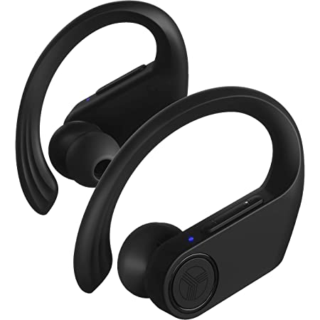 Treblab X3 Pro - True Wireless Earbuds with Earhooks - 45H Battery Life, Bluetooth 5.0 with aptX, IPX7 Waterproof Headphones - TWS Bluetooth Earphones with Charging case for Sport, Running, Workout