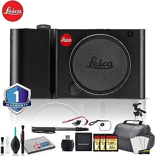 Leica TL Mirrorless Digital Camera (Black) Bundle with 3x32GB Memory Card + 2X Battery + Leica Flash Black + Editing Software Kit + White Balance Cards Set and More