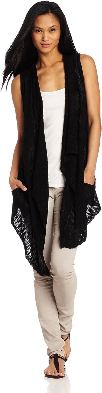 525 America Women's Slub Yarn Sleeveless Flyaway Sweater