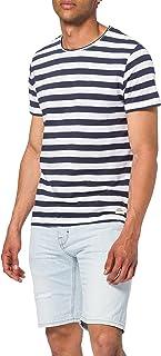 Jack & Jones Men's Jortons Stripe Tee Ss Crew Neck T-Shirt