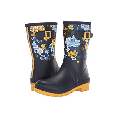 Joules Mid Molly Welly (Navy Botanical) Women