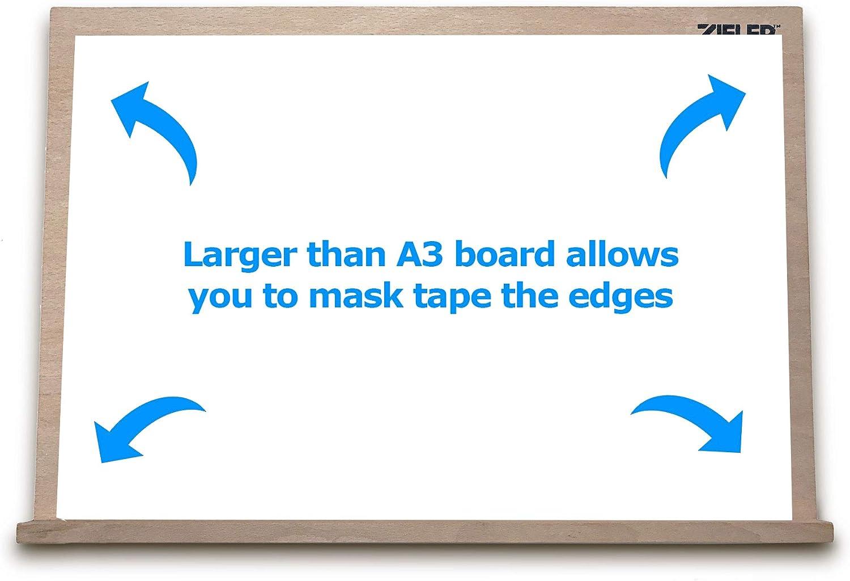 Malen Kalligraphie Skizzieren Basteln Zieler/® anpassbare Tisch-Staffelei Ideal f/ür Pr/äsentation aus Buchenholz Zeichnen und Planen A3 5 verschiedene Winkel