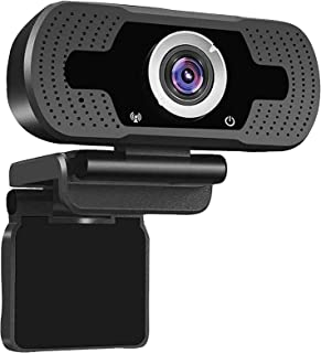 Webcam with Microphone, USB PC Desktop Laptop with 110° Wide View Angle,Web Camera for Live Streaming, Video Calling Confe...