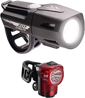 CYGOLITE Zot 450 Lumen Headlight & Hotshot Micro 30 Lumen Tail Light USB Rechargeable Bicycle Light Combo Set