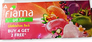 Fiama Gel Bar, 125g (Pack of 4) with 1 Multi-Variant