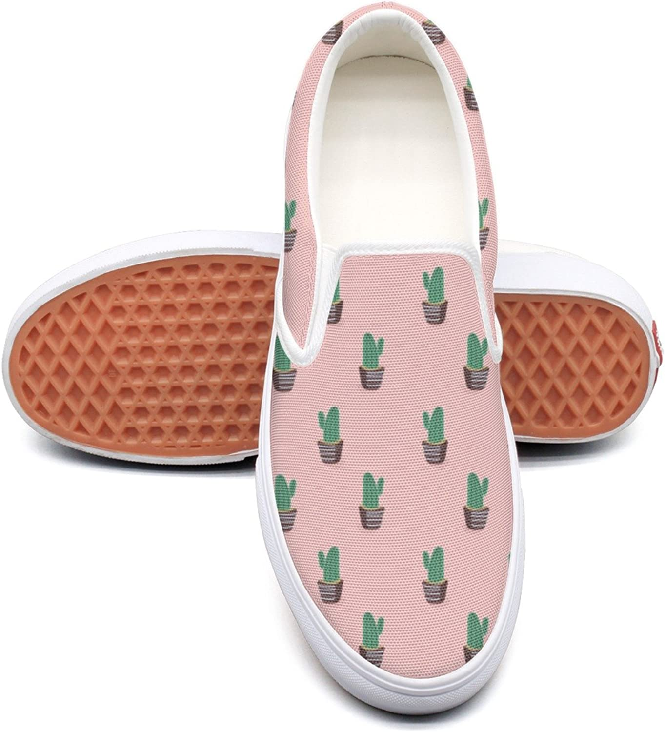 Lalige Cactus Womens Classic Canvas Slip-on Slip-ons