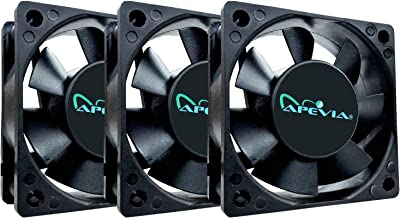 Apevia 60mm x 60mm x25mm Black Case Fan W/4PIN Molex + 3PIN Motherboard Adapter CF6025S-3 (3 Pk)
