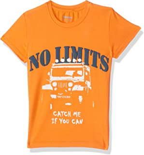 Montero No Limits Letter Print Short Sleeves Round Neck T-shirt for Girls