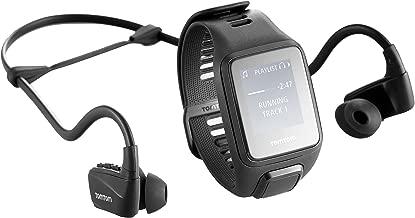 TomTom 1RKM.002.12 Spark 3 Music GPS Fitness Watch Headphone Bundle Black, Large