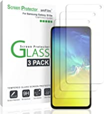 amFilm Glass Screen Protector for Galaxy S10e (3 Pack) Tempered Glass with Easy Installation Tray
