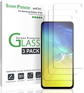 Galaxy S10e Screen Protector (3 Pack), amFilm Case Friendly Tempered Glass Film Screen Protector for Samsung Galaxy S10e (2019)