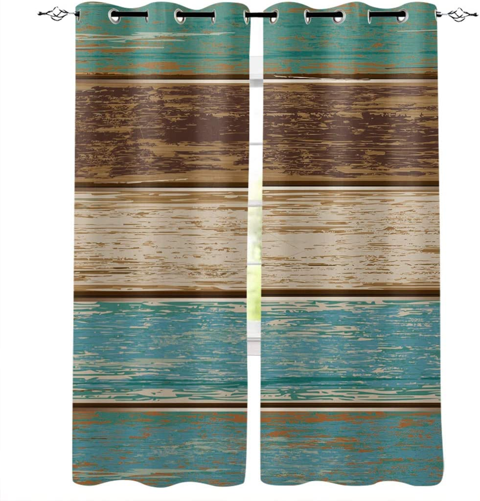DAOB Draperies Curtains High Max 77% OFF quality new Panels for Room R Living Retro Bedroom