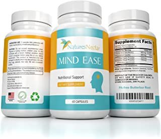 Migraine Relief Supplement - PA Free Butterbur Root, Riboflavin, Magnesium and Feverfew Capsules- Mind Ease's Unique Blend of Original Migraine Supplement Provides Prevention from Migraines Occurring