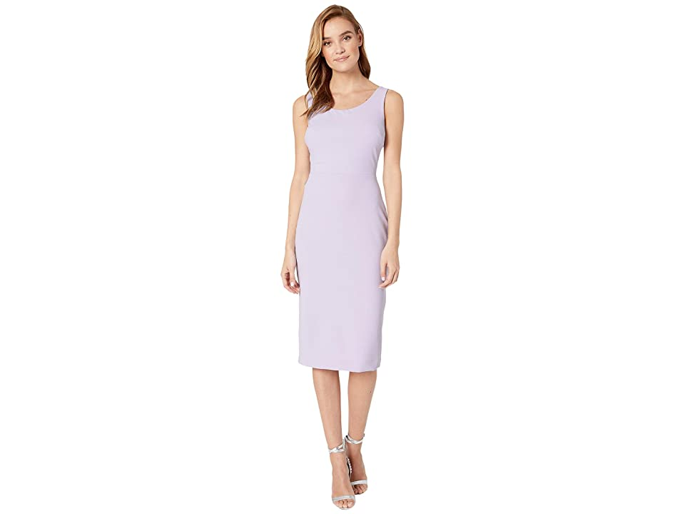 Betsey Johnson Scuba Crepe Midi Dress (Lavender Bliss) Women