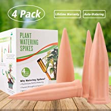 punada Plant Water Self Watering Spikes, Automatic Vacation Plant Watering Devices,Terracotta Wine Bottle Stake Set, Slow Release Self Irrigation Watering System-Perfect for Indoor Outdoor Plant