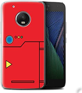 Phone Case for Motorola Moto G5 Plus Anime Cartoon Codex Red Design Transparent Clear Ultra Soft Flexi Silicone Gel/TPU Bumper Cover