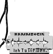 Rammstein Rasierklinge Ich Tu Dir WEH Anhänger, Grey, one Size