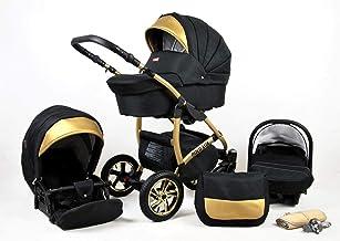 Cochecito de bebe Trio Isofix silla de paseo Black-Deluxe by SaintBaby Chocolate 2in1 sin Silla de coche