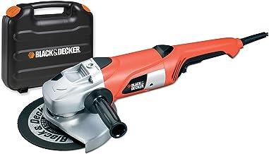 Black+Decker KG2000K twee-hands-haakse slijper (2.000 Watt, 230 mm schijfdiameter, inclusief slijpschijf en koffer)