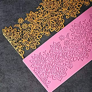 Lace Mat Decor Silicone Mold for DIY Fondant Mold Chocolate Cupcake Cake Topper Decoration Candy Ice Cube Desserts Soap Mould Jelly Shots Handmade Ice Cream Crystal Pudding Gum Paste