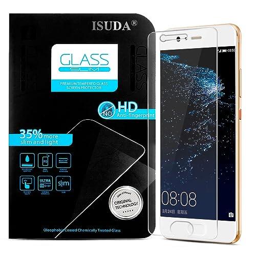 ISUDA Film Protection en Verre Trempé Huawei P10, Protection écran en Verre Trempé de Super qualité Protecteur pour Huawei P10