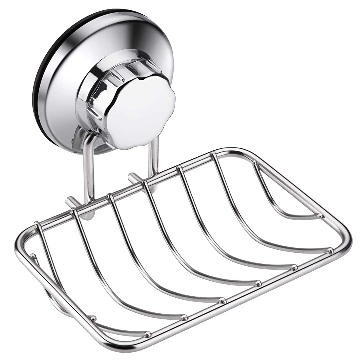 iPEGTOP Super Powerful Vacuum Suction Cup Shower Soap Dish - Strong Rustproof Stainless Steel Sponge Soap Holder for Bathroom & Kitchen Sink