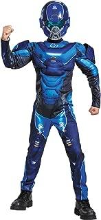 Blue Spartan Classic Muscle Halo Microsoft Costume, Medium/7-8