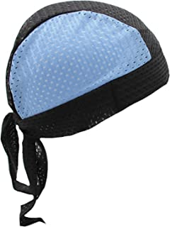 Hiphopville Stretch Mesh Sport Easy Tie Du-rag, UNC Tarheel Blue & Black