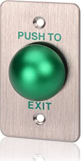 Exit Button, ZOTER Push Release Door Switch Press to Exit 304 Stainless Steel for DIY Access Control  Security System Green Rectangle