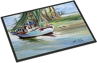 "Caroline's Treasures JMK1060MAT Jeannie Shrimp Boat Indoor or Outdoor Mat, 18"" x 27"", Multicolor"