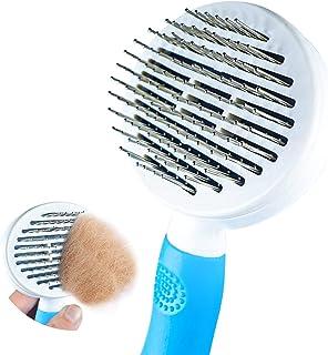 برس تمیز کردن گربه ، برس تمیزکننده خود تمیز شونده برای سگها گربه ابزار برس تمیز کردن حیوانات اهلی به آرامی لباس زیر نرم و شکننده مو را برای تمیز کردن حیوانات خانگی از بین می برد