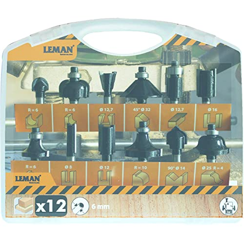 Leman 416.700.12 Lot de 12fraises (queue 6) Orange