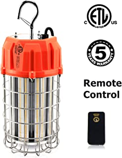 LED Temporary Work Light, 150W Remote Control LED Construction Lighting with 10ft Cord Outdoor Portable Hanging Workshop Job Site High Bay Light - 21750Lm, 5000K, 800W HID/HPS Replacement
