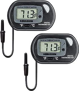 (2 Pack) LCD Fish Tank Aquarium Thermometer, T Tersely Digital Water Thermometer for Fish Tank Aquarium Marine Temperature