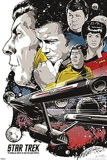 Pyramid America Star Trek to Boldly Go 50th Anniversary TV Show Cool Wall Decor Art Print Poster 24x36