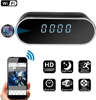 Spy Hidden Camera, ZDMYING Alarm Clock WiFi HD 1080P Cam, with Night Vision/Motion Detection/Loop Recording Home Surveillance Nanny Security Cameras